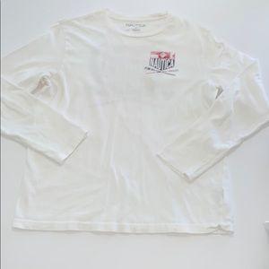 Nautica Men's Long Sleeve White Shirt, Large